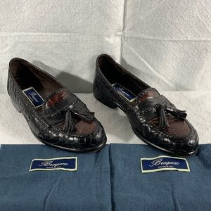 Bragano Cole Haan Crocodile & Leather Loafers